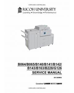 RICOH Aficio AP-900 G126 Service Manual