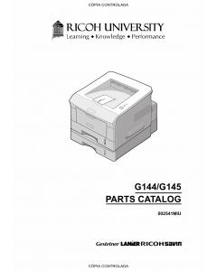 RICOH Aficio BP-20 BP20N G144 G145 Parts Catalog
