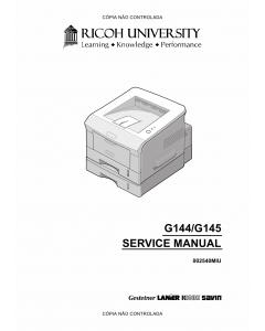 RICOH Aficio BP-20 BP20N G144 G145 Service Manual