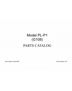 RICOH Aficio CL-1000N G108 Parts Catalog