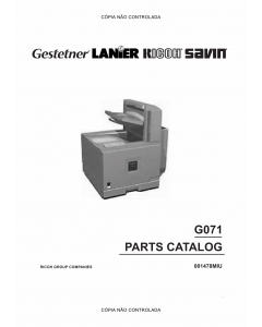 RICOH Aficio CL-5000 G071 Parts Catalog