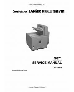 RICOH Aficio CL-5000 G071 Service Manual