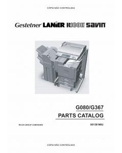 RICOH Aficio CL-7000 7000CMF G080 G367 Parts Catalog