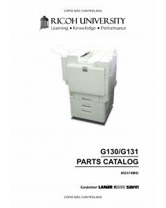 RICOH Aficio CL-7200 7300 G130 G131 Parts Catalog