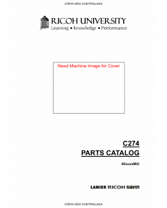 RICOH Aficio DX-2330 2430 C274 Parts Catalog