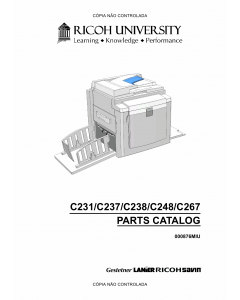 RICOH Aficio DX-3340 JP-1030 1230 3000 1235 C231 C237 C238 C248 C267 Parts Catalog