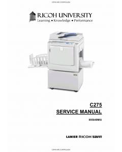 RICOH Aficio DX-3343 3443 C275 Service Manual