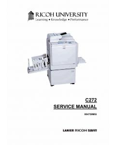 RICOH Aficio DX4545 C272 Service Manual