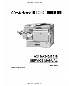 RICOH Aficio FT-4015 4018 3813 A219 A245 B019 Service Manual