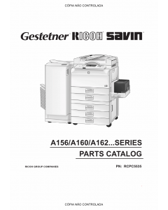 RICOH Aficio FT-4022 5850 A161 A207 Parts Catalog
