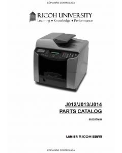 RICOH Aficio GX-3000S 3000SF 3050SFN Parts Catalog