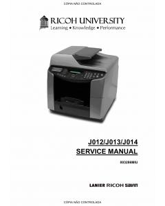 RICOH Aficio GX-3000S 3000SF 3050SFN Service Manual