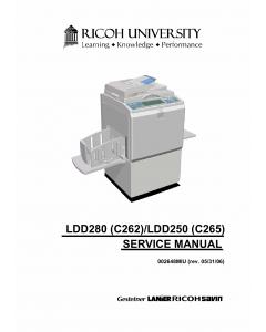 RICOH Aficio HQ-9000 HQ7000 C262 C265 Service Manual