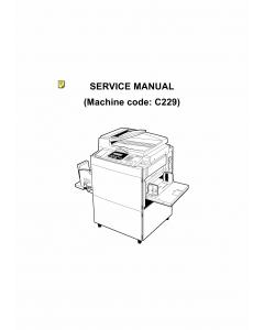 RICOH Aficio JP-5000 C229 Service Manual