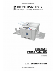 RICOH Aficio JP-730 735 C252 C261 Parts Catalog