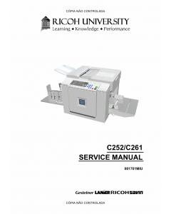 RICOH Aficio JP-730 735 C252 C261 Service Manual