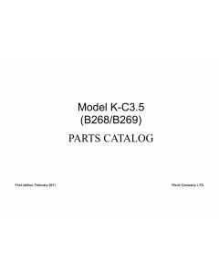 RICOH Aficio MP-1600L2 B268 B269 Parts Catalog