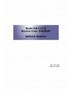 RICOH Aficio MP-1610L MP1610LD B282 B283 Service Manual