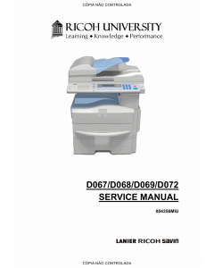 RICOH Aficio MP-171 171F 171S 171SPF D067 D068 D069 D072 Service Manual
