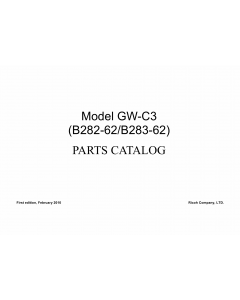 RICOH Aficio MP-1811L MP2011L B282-62 B283-62 Parts Catalog