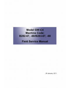 RICOH Aficio MP-1812L MP2012L B282-67 B262-68 B283-67 B283-68 Service Manual