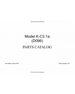 RICOH Aficio MP-1900 D096 Parts Catalog