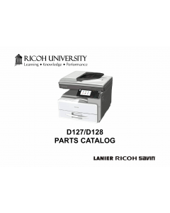 RICOH Aficio MP-301SP 301SPF D127 D128 Parts Catalog