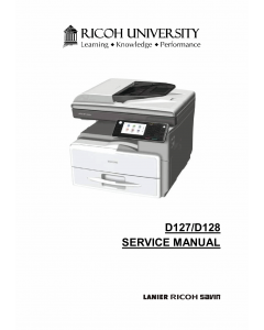 RICOH Aficio MP-301SP 301SPF D127 D128 Service Manual