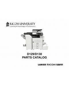 RICOH Aficio MP-4002 4002SP 5002 5002SP D129 D130 Parts Catalog