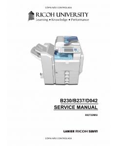 RICOH Aficio MP-C2000 C2500 C3000 B230 B237 D042 Service Manual