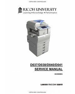 RICOH Aficio MP-C2030 C2050 C2530 C2550 D037 D038 D040 D041 Service Manual