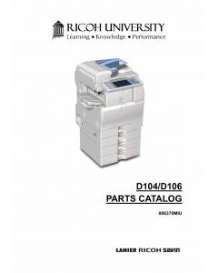 RICOH Aficio MP-C2051 C2551 D104 D106 Parts Catalog