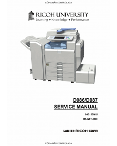 RICOH Aficio MP-C3001 C3501 D086 D087 Service Manual