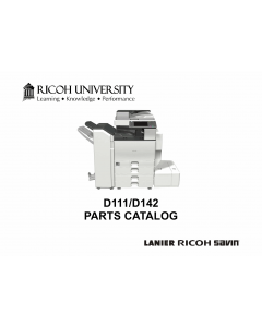 RICOH Aficio MP-C3002 C3502 D111 D142 Parts Catalog