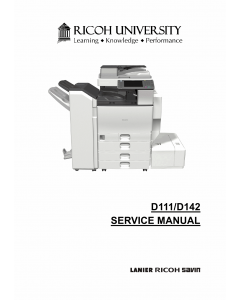 RICOH Aficio MP-C3002 C3502 D111 D142 Service Manual