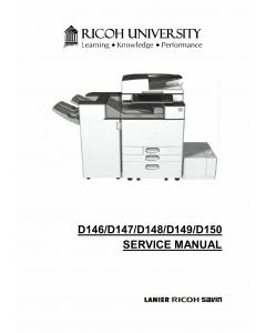 RICOH Aficio MP-C3003 C3503 C4503 C5503 C6003 D146 D147 D148 D149 D150 Service Manual