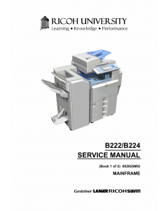 RICOH Aficio MP-C3500 C4500 B222 B224 Service Manual