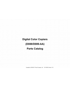 RICOH Aficio MP-C4501A 4501 5501 5501A D088 D089 Parts Catalog