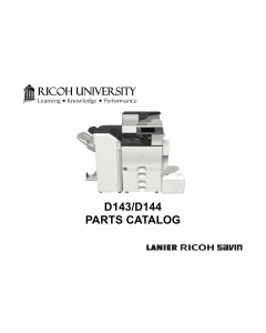 RICOH Aficio MP-C4502 C5502 D143 D144 Parts Catalog