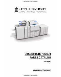 RICOH Aficio MP-C6000 C7500 Pro-C550EX C700EX D014 D015 D078 D079 Parts Catalog