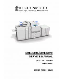 RICOH Aficio MP-C6000 C7500 Pro-C550EX C700EX D014 D015 D078 D079 Service Manual