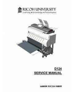 RICOH Aficio MP-CW2200SP D124 Service Manual