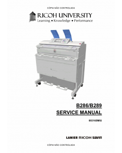 RICOH Aficio MP-W2400 W3600 B286 B289 Service Manual