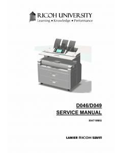 RICOH Aficio MP-W5100 W7140 D046 D049 Parts Service Manual