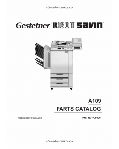 RICOH Aficio NC5006 A109 Parts Catalog