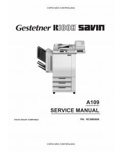 RICOH Aficio NC5006 A109 Service Manual