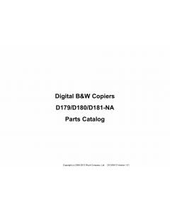 RICOH Aficio Pro-8100EX 8110S 8120S D179 D180 D181 Parts Catalog