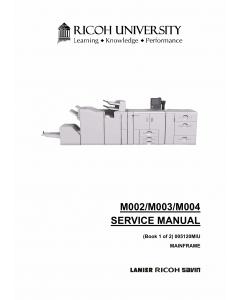 RICOH Aficio Pro-907 1107 1357 M002 M003 M004 Parts Service Manual