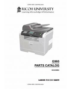 RICOH Aficio SF-3200SF G960 Parts Catalog