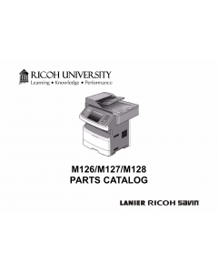 RICOH Aficio SF-4410SF M126 M127 M128 Parts Catalog